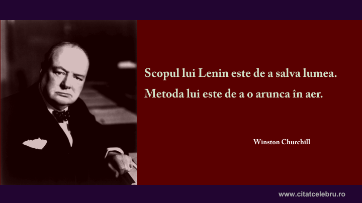 winston churchill despre lenin