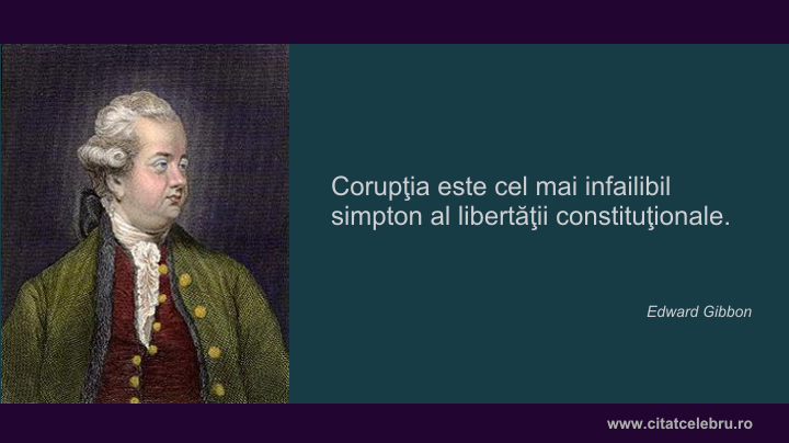 Eduard Gibbon despre coruptie