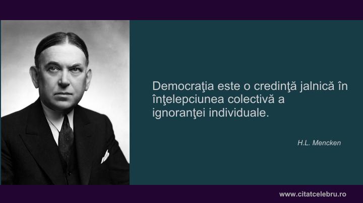 H.L. Mencken despre democratie