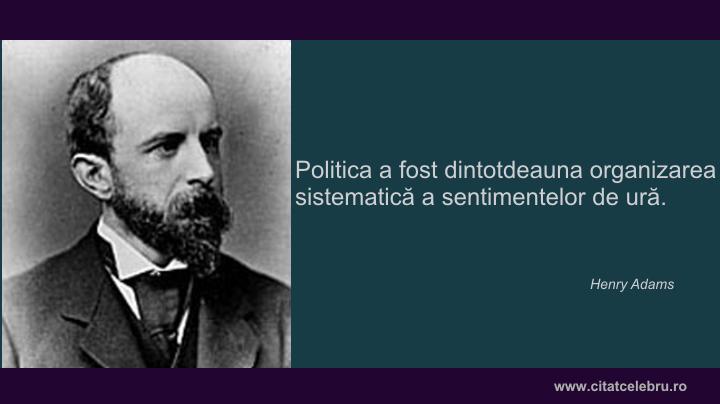 Henry Adams despre politica
