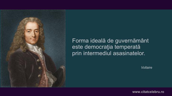 Voltaire despre forma ideala de guvernamant