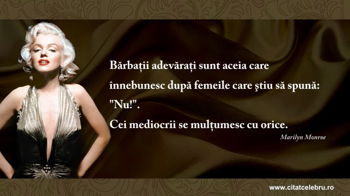 Marilyn Monroe - despre barbatii adevarati