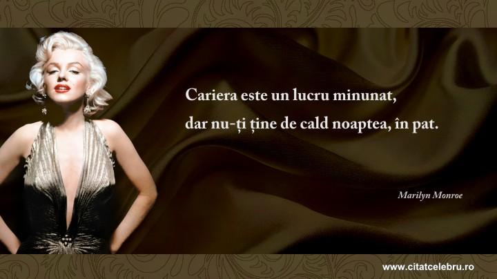 Marilyn Monroe - despre cariera