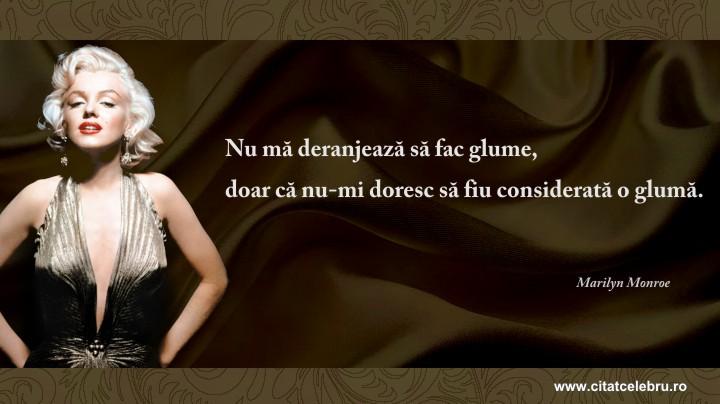 Marilyn Monroe - despre glume