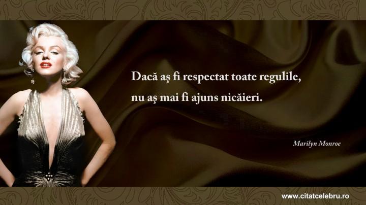 Marilyn Monroe - despre reguli