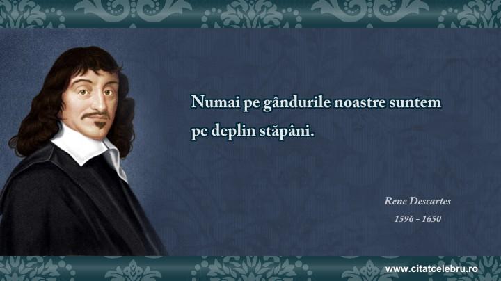 Rene Descartes - despre ganduri