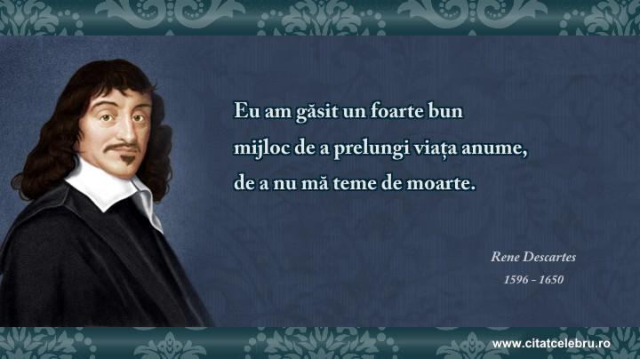 Rene Descartes - despre viata