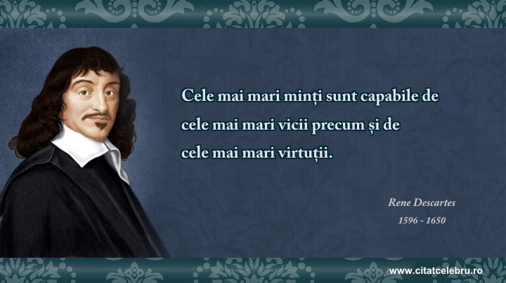 Rene Descartes - despre vicii