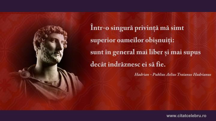 hadrian despre el