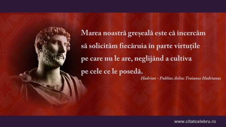 hadrian despre virtute