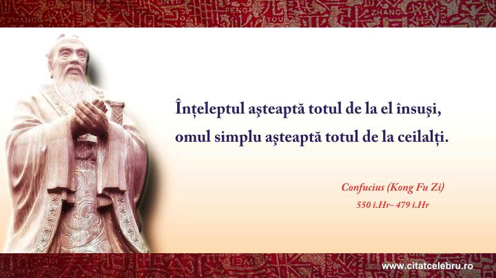 Confucius - despre asteptari