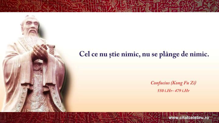 Confucius - despre cunoastere