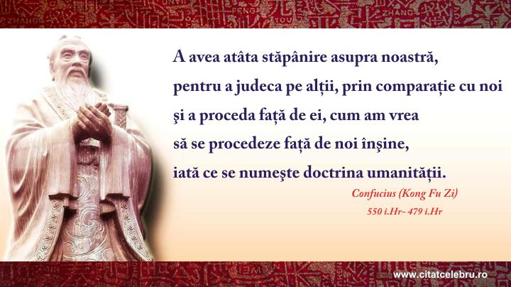 Confucius - despre doctrina umanitatii
