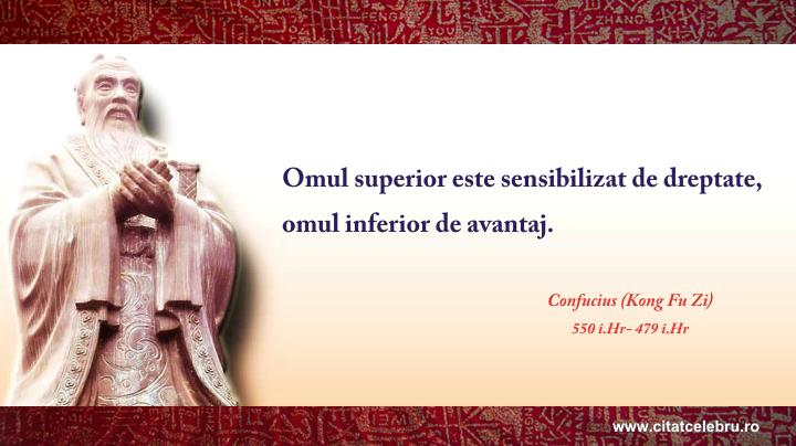 Confucius - despre dreptate
