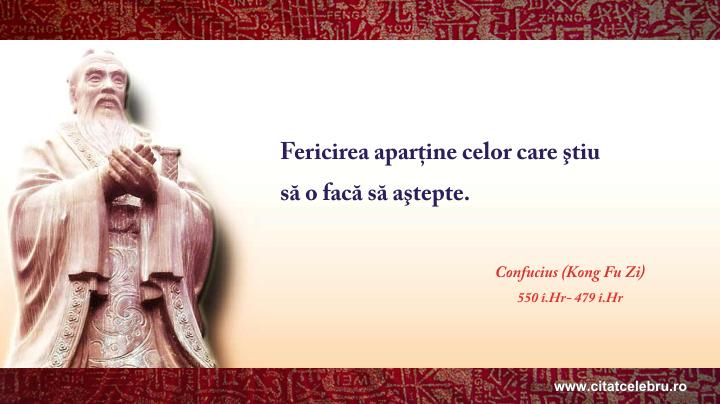 Confucius - despre fericire