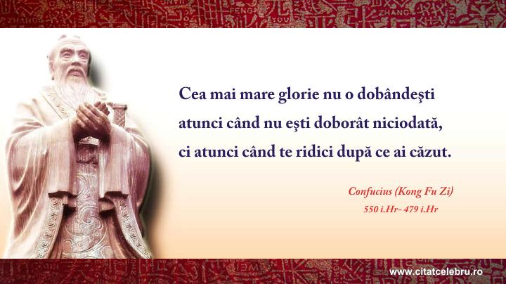 Confucius - despre glorie