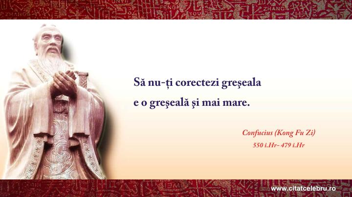Confucius - despre greseala