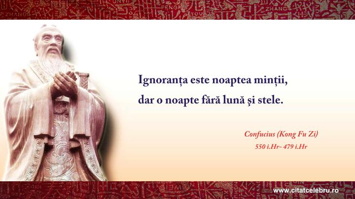 Confucius - despre ignoranta