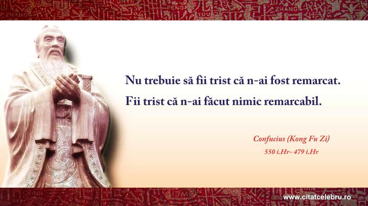 Confucius - despre lucrurile remarcabile