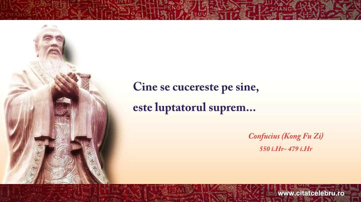 Confucius - despre luptatorul suprem