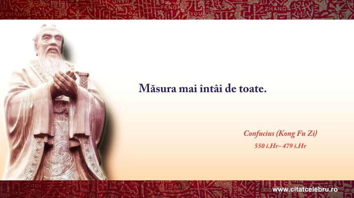 Confucius - despre masura