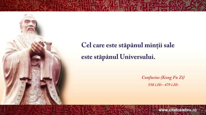 Confucius - despre minte
