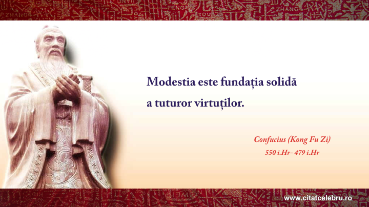 Confucius - despre modestie