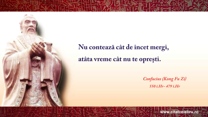 Confucius - despre motivatie