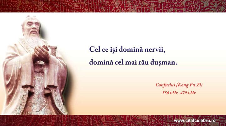 Confucius - despre nervi