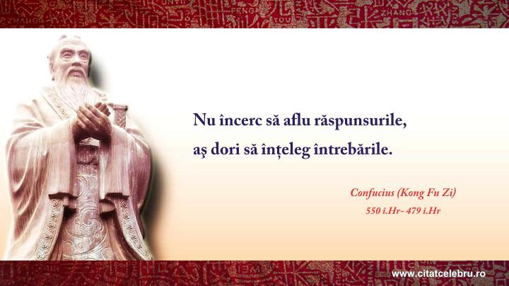 Confucius - despre probleme