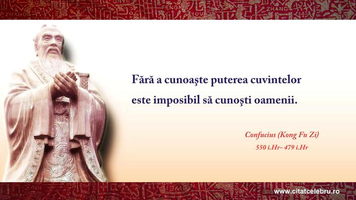 Confucius - despre puterea cuvintelor