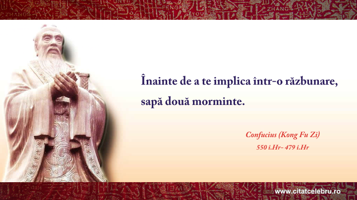 Confucius - despre razbunare