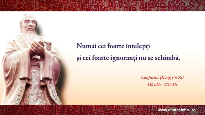 Confucius - despre schimbare
