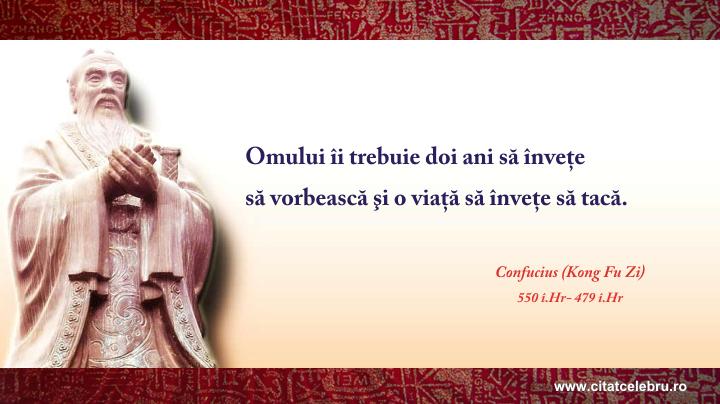 Confucius - despre tacere