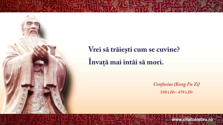 Confucius - despre viata