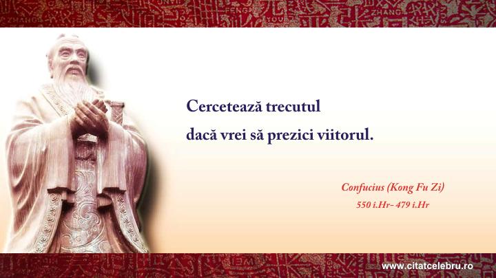 Confucius - despre viitor