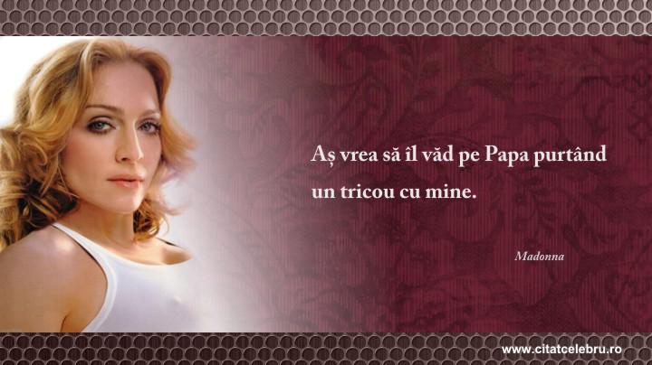 Madonna - despre Papa