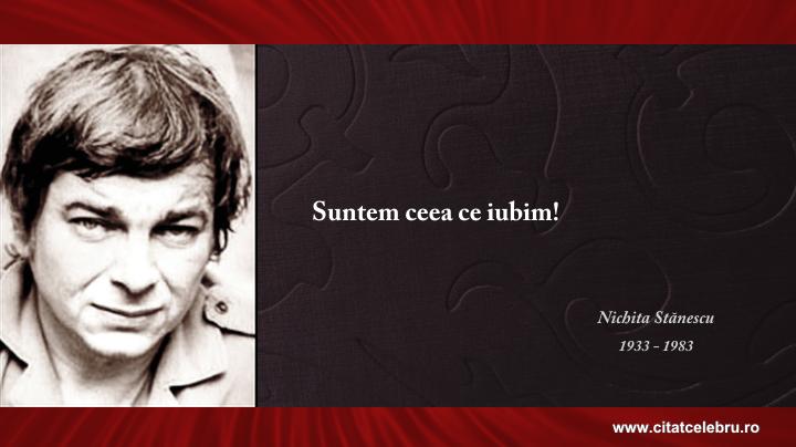 Nichita Stanescu - despre iubire
