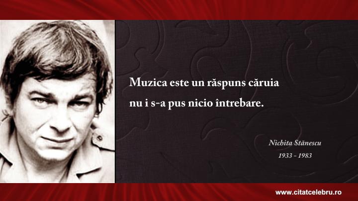 Nichita Stanescu - despre muzica