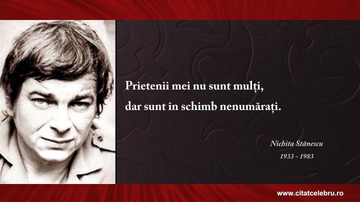Nichita Stanescu - despre prieteni