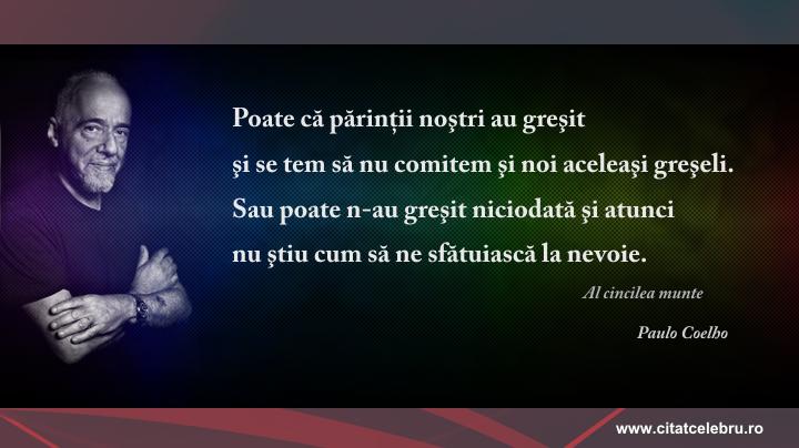 Paulo Coelho - despre greseli