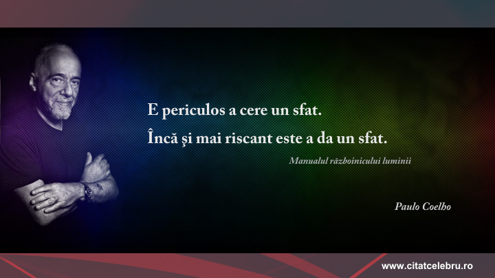 Paulo Coelho - despre sfaturi