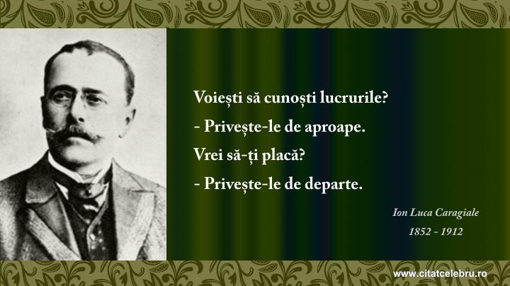 Ion Luca Caragiale - despre  cunoastere