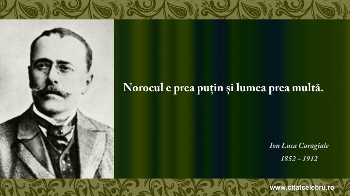 Ion Luca Caragiale - despre noroc