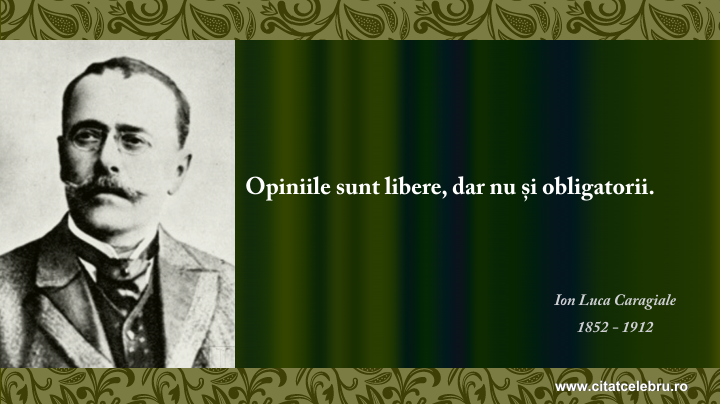 Ion Luca Caragiale - despre opinii