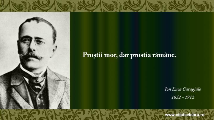 Ion Luca Caragiale - despre prostie