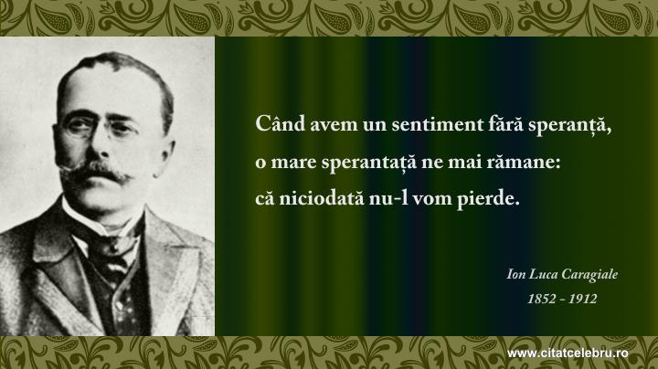 Ion Luca Caragiale - despre speranta