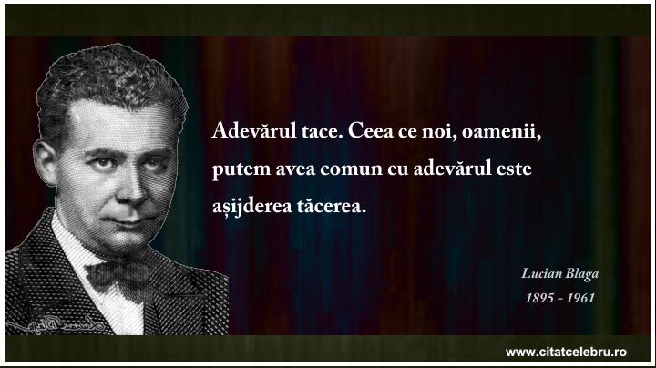 Lucian Blaga - despre adevar