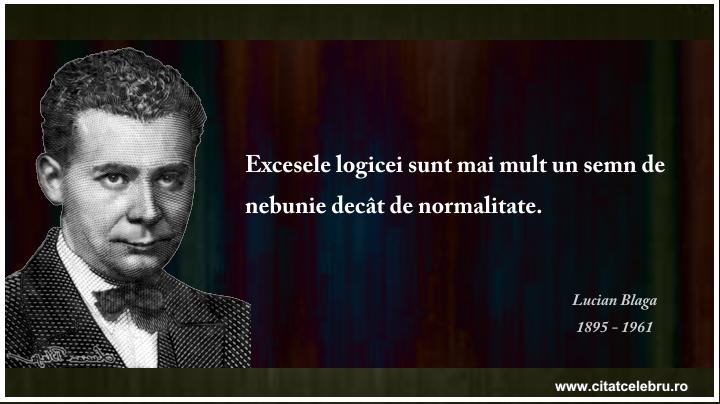 Lucian Blaga - despre excesele logicii
