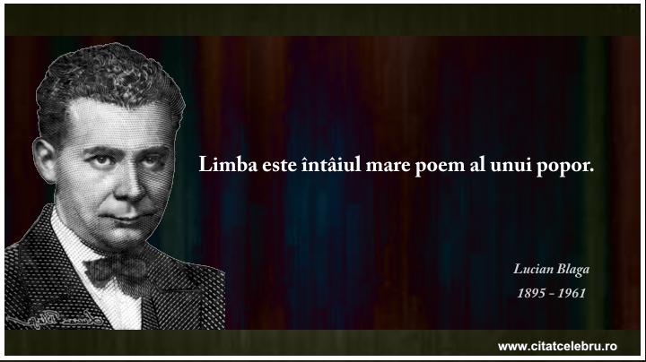 Lucian Blaga - despre limba